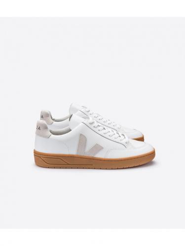 V12 Leather - Extra White Natural - Natural Sole - Veja