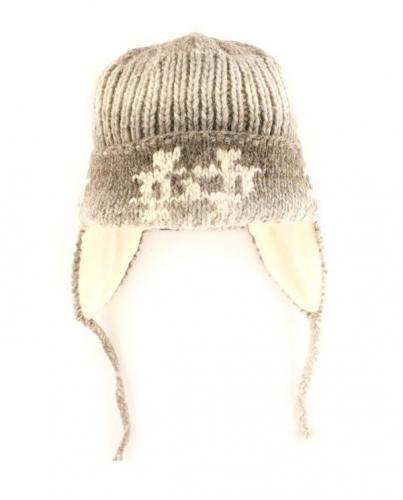 bonnet Peru - écru - Laine Alpaga doublée polaire