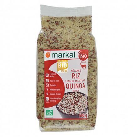 Mélange quinoa rouge riz long blanc bio