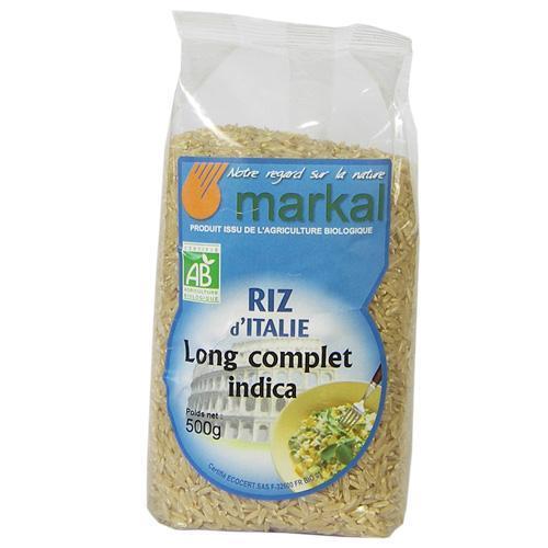 Riz long d'Italie complet bio indica