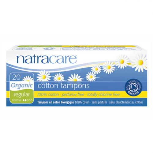 Tampons normaux sans applicateur Natracare Boite de 20 tampons
