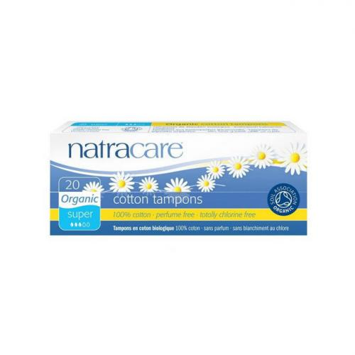 Tampons super sans applicateur Natracare Boite de 20 tampons