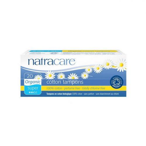 Tampons super sans applicateur Natracare Boite de 20 tampons