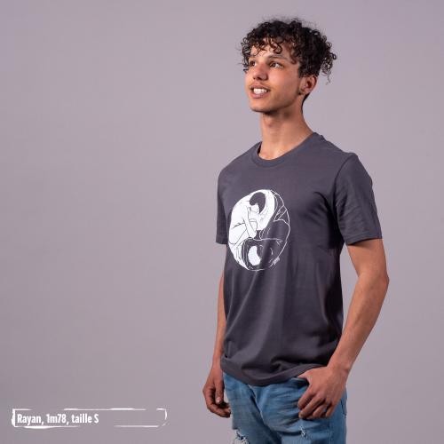 """T-shirt bio équitable DOUALA """"Yin & Yang"""""""
