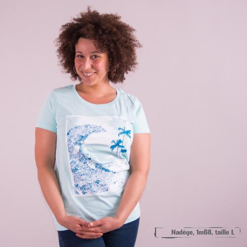 """T-shirt coton bio éthique MANAGUA """"7ème continent"""""""
