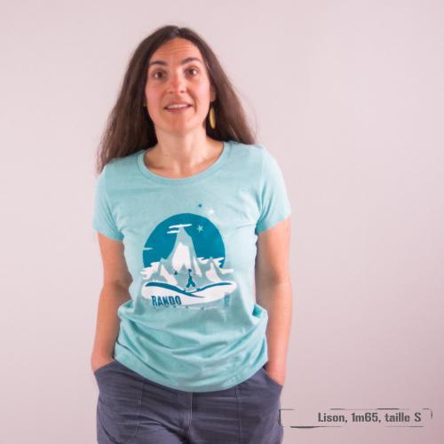 "T-shirt coton bio éthique MANAGUA ""RANDO"""