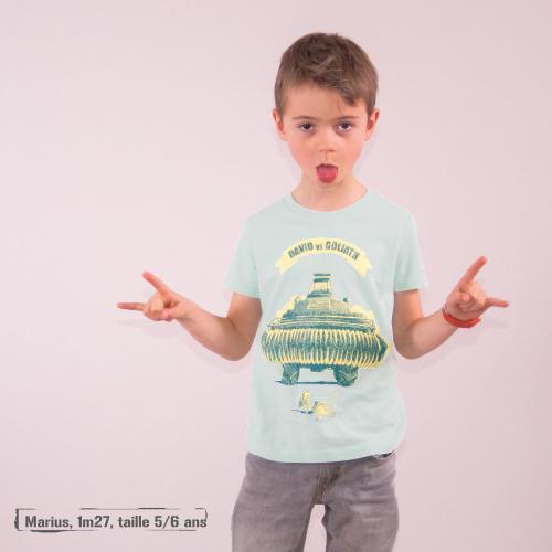 "T shirt coton bio équitable MANAUS ""David Vs Goliath"""