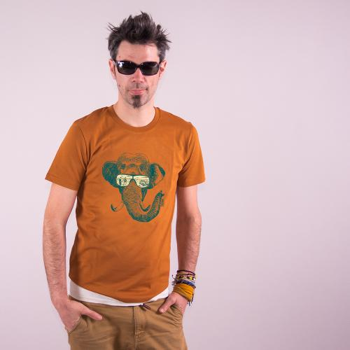 """T-shirt bio équitable DOUALA """"Mémoire d'éléphant"""""""