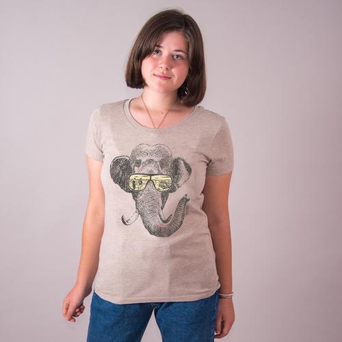 """T-shirt coton bio éthique MANAGUA """"Mémoire d'éléphant"""""""