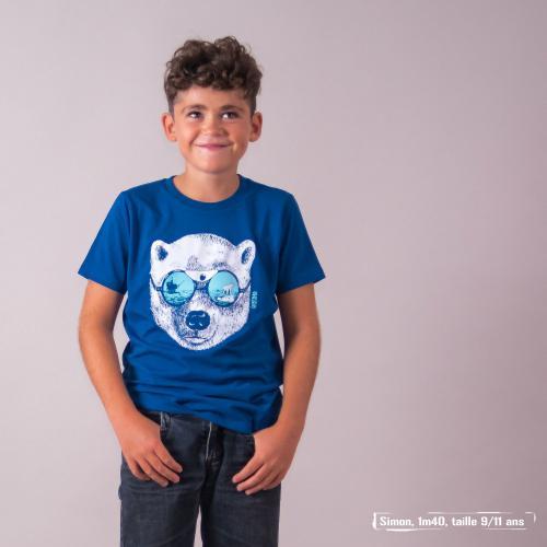 """T shirt coton bio équitable MANAUS """"La peau de l'ours"""""""
