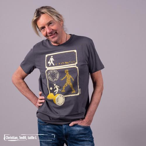 "T-shirt bio équitable DOUALA ""Fin du moi"""