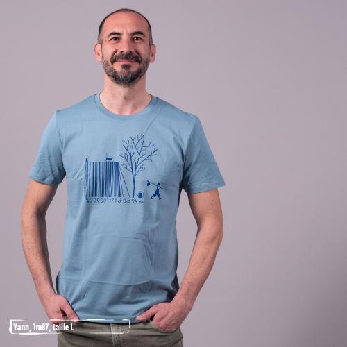 "T-shirt bio équitable DOUALA ""Code bar(b)re"""
