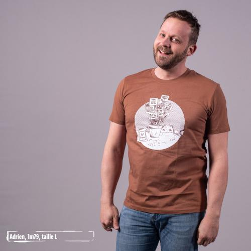 """T-shirt bio équitable DOUALA """"Graine de changement"""""""