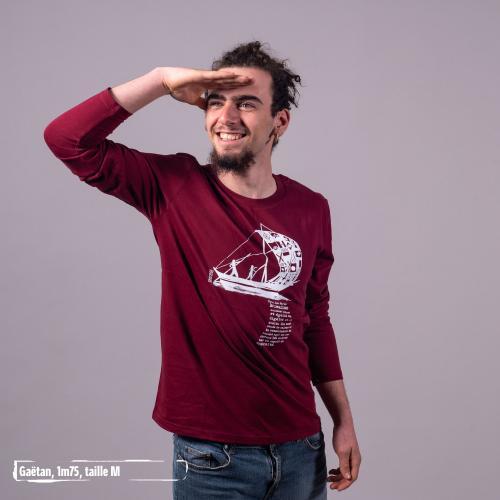 "T shirt coton bio équitable DAKAR ""D'un seul souffle"""