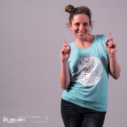"""T-shirt coton bio éthique MANAGUA """"Graine de changement"""""""