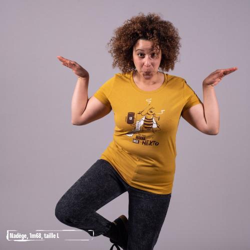 "T-shirt coton bio éthique MANAGUA ""Do you wanna bee"""