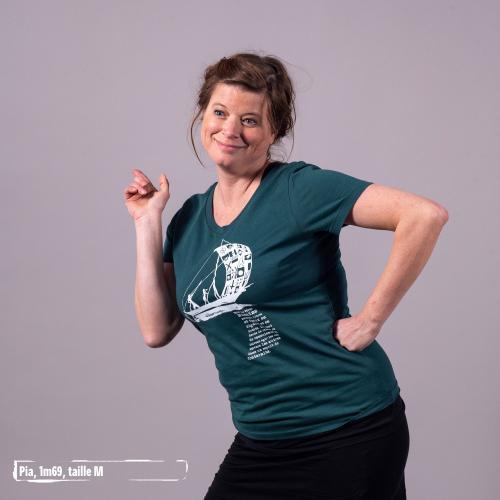 """T-shirt coton bio éthique MANAGUA """"D'un seul souffle"""""""