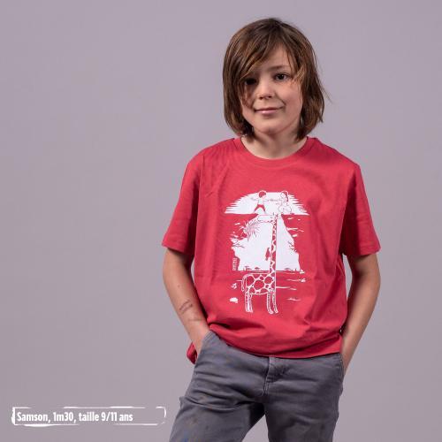 """T shirt coton bio équitable MANAUS """"Pas...sage"""""""