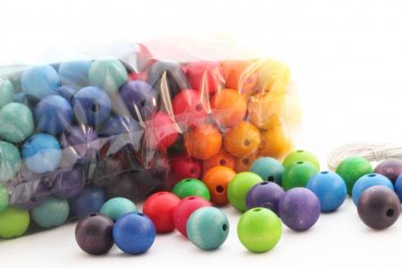 200 perles en bois (20 mm)