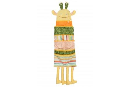 Poches de rangement Girafe (variation sur le printemps)