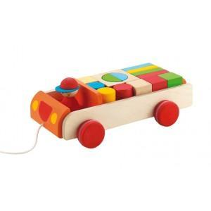 Camion cubes en route sevi 1831 - jouets en bois
