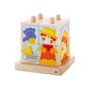 Empilable cubes ferme sevi 1831 - jouets en bois