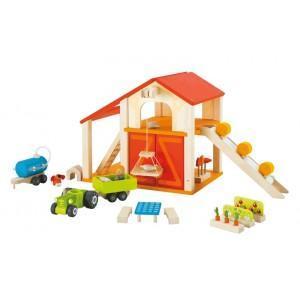 Grange jouets de la ferme sevi 1831 - jouets en bois