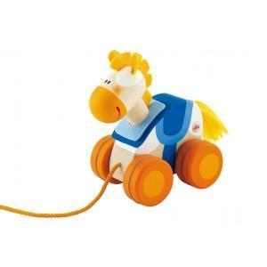 Mini jouet en bois à traîner cheval sevi 1831 - jouets en bois  2