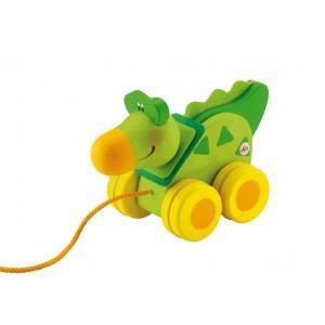 Mini jouet à traîner crocodile sévi - jouets en bois 2