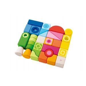 Set cubes arc-en-ciel sévi - jouets en bois 2