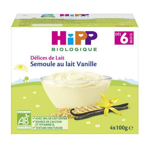 Semoule au lait Hipp Vanille (dès 6 mois)