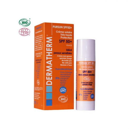 PurSun Crème solaire bio SPF 50  Visage 30ml