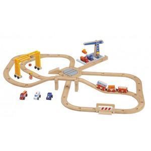 Circuit train gare marchandise sévi - jouets en bois