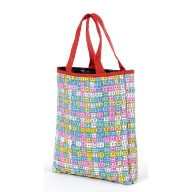 Grand sac Couturière multicolore  en centimètres de couturières détournés