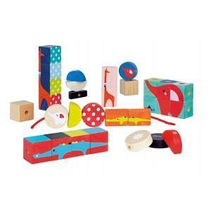 Jeu de perles kubix janod - jouets en bois