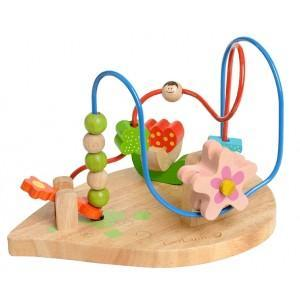Jouet looping perles de fleurs everearth - jouets bois