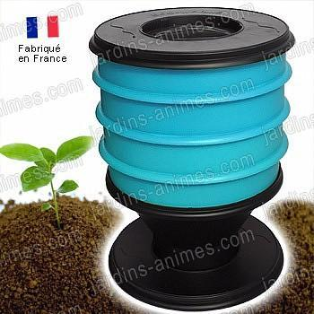 Lombricomposteur EcoWorms BLEU et 250g vers
