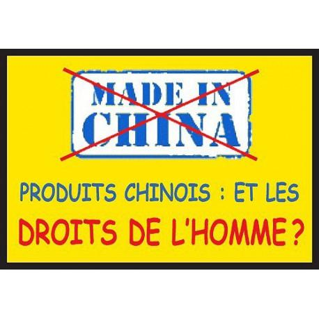 Sticker 'Boycott Made in China'