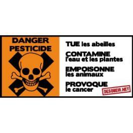 Sticker danger pesticide (Petit)