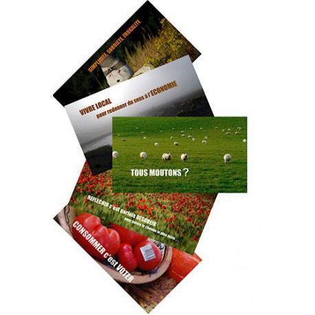Lot de 5 cartes postales Ecologie