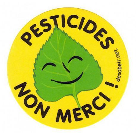 Sticker Pesticides Non Merci (petite taille)
