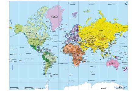 Puzzle en bois Carte du monde 50 pcs
