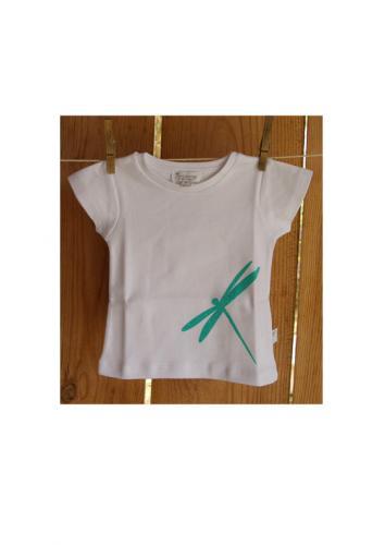 T-shirt manches courtes imprimé libellule en coton bio