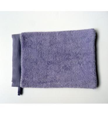 image Gants de toilette Lavender brodé Pure
