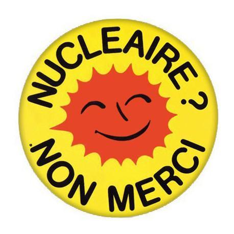 Lot de 2 badges Nucléaire Non Merci