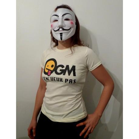 Tee shirt 'OGM j'en veux pas' (coton bio)