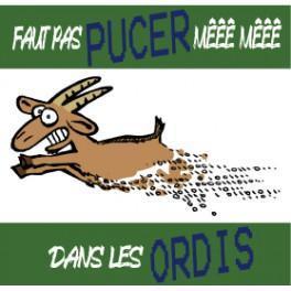 Sticker Faut pas pucer!
