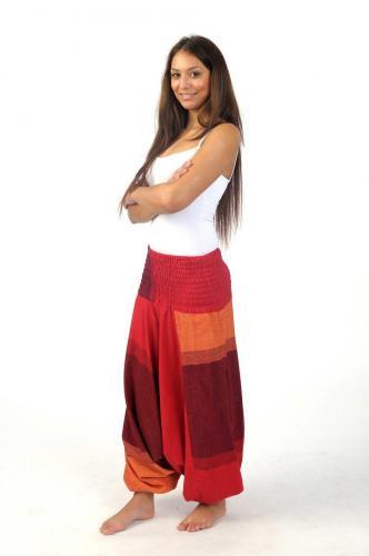 image Sarouel homme femme élastique rouge Sanjeevani