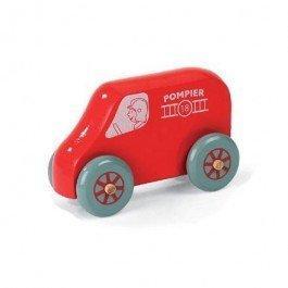 Mini camion de pompiers en bois