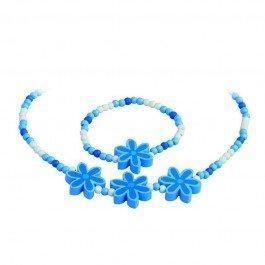 Parure collier et bracelet Fleurs